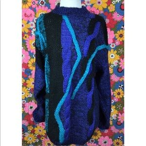 Vintage sweater dress abstract